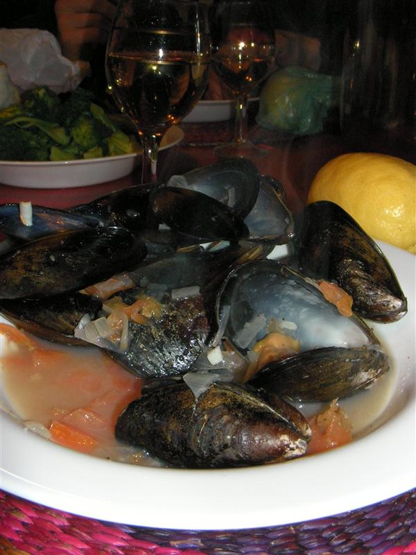 Mussels in Puerto Montt