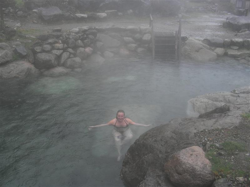 Agnes in hot springs