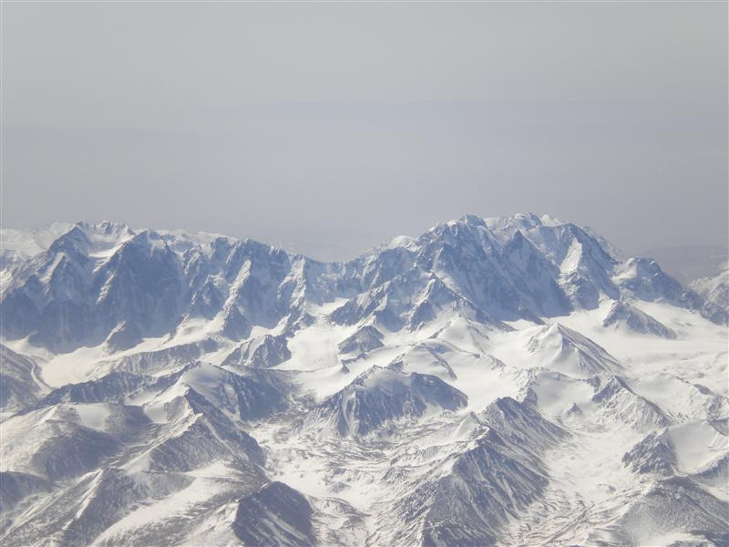 Amazing mountains from plane