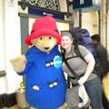 Aww, Paddington Bear and I lurking outside the mens loo.. we'll crop this photo I think..