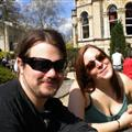 Chris and Jen in our Bristol beer garden tour