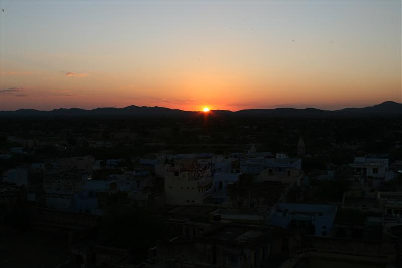 Sunset from roof at Roopangarh Fort