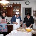 My family and Madeline making Calzones