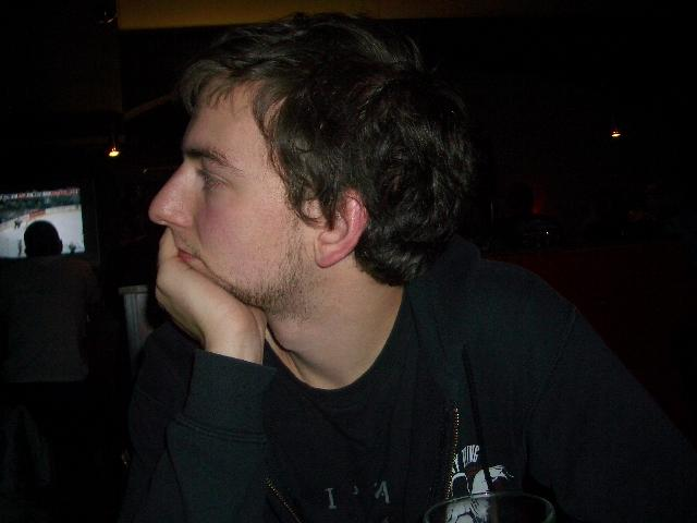 Deep in comtemplative thought about Ice Hockey