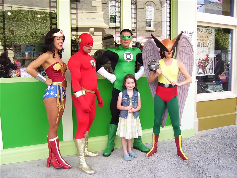 Super Girl with all the Super Heroes