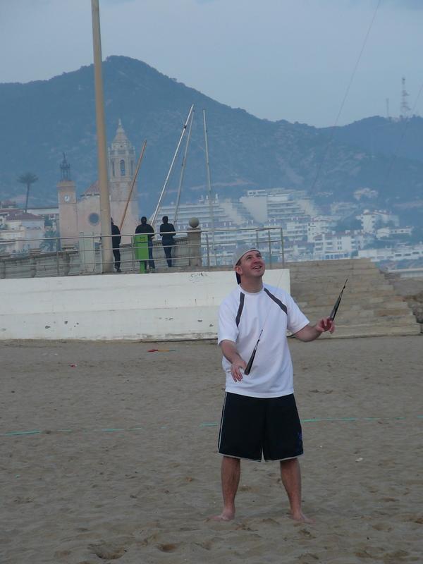 Trevor Flying his first kite