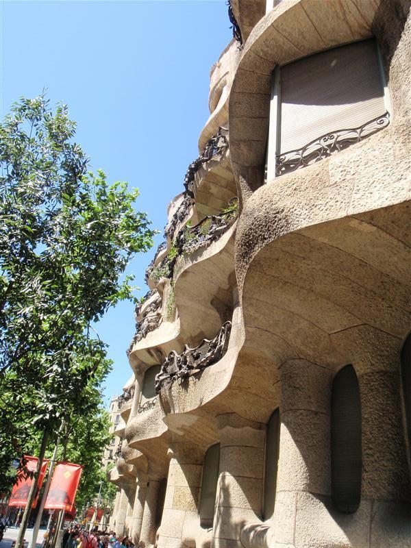 One of gaudis buildings in Barcelona
