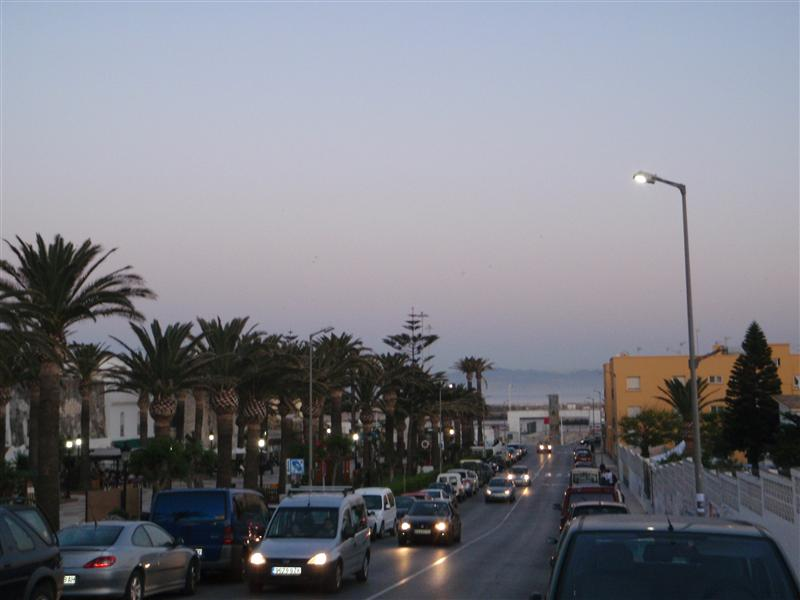 The view from the street where our hostel is at (Melting pot) to the port