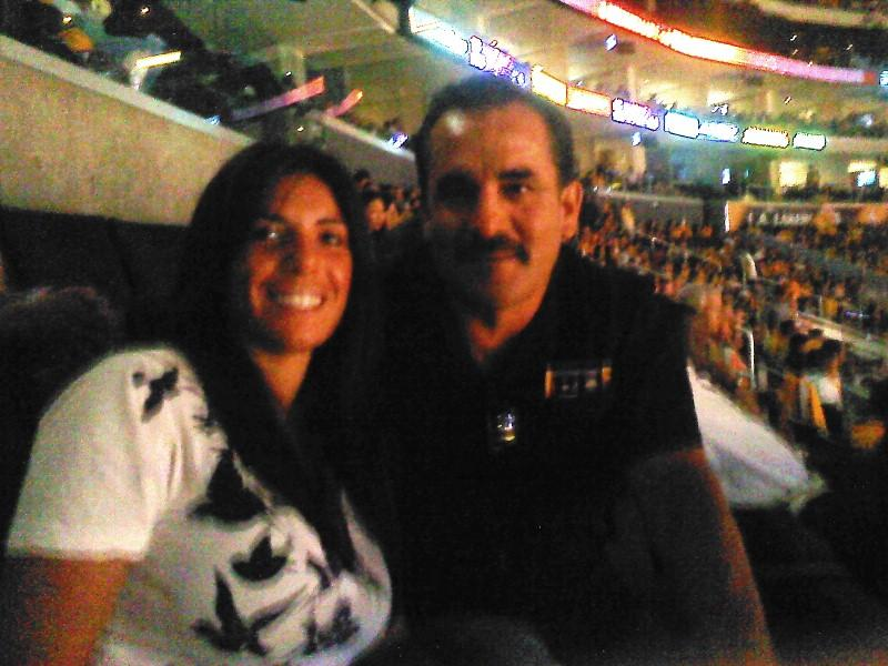 Me and Dad at the Laker's Play-Off game
