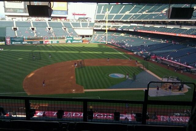 Our view from the box at Angel's stadium