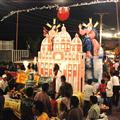 Procession of the Virgin Mary float