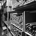 Vegas Santiago Costa Rican Cigars in the storage room