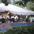 Typical local food stand at the Art Festival in Sabana Park