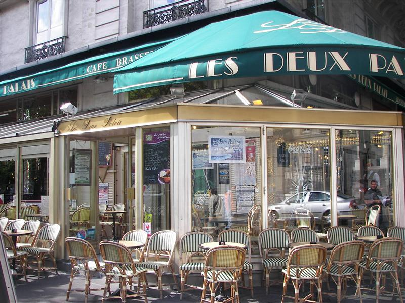 The cafe where we had breakfast our first morning in Paris.  So cute!