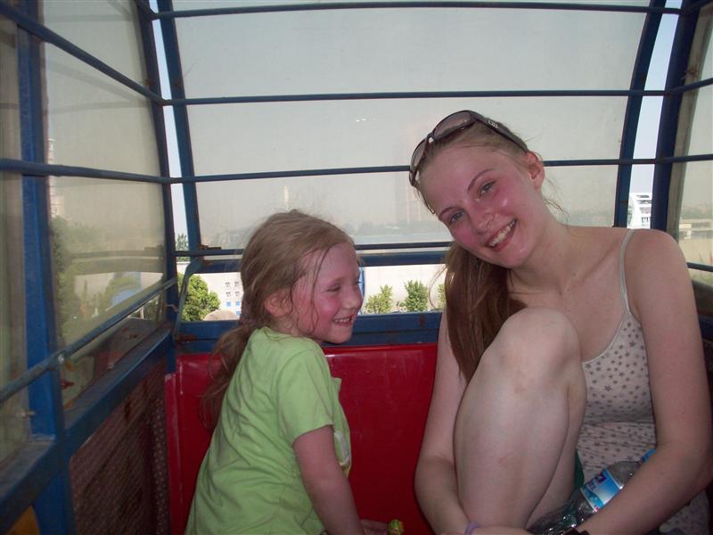 Ferris Wheel Hefei-We were sweating buckets in the bucket!
