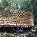princess building the yurt