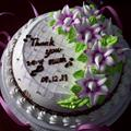 Thank you cake from student