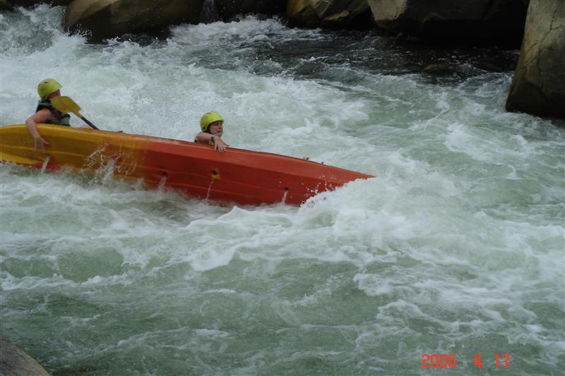 Attempting to Kayak in Laos