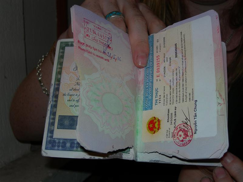 Erin's ruined passport