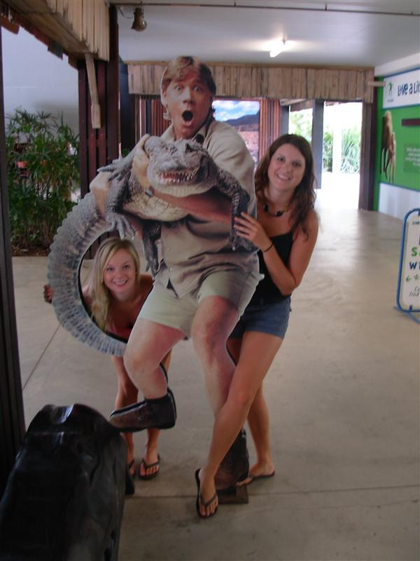 Tay, Murph and Steve Irwin