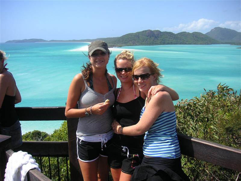 The girls at Whitehaven Beach