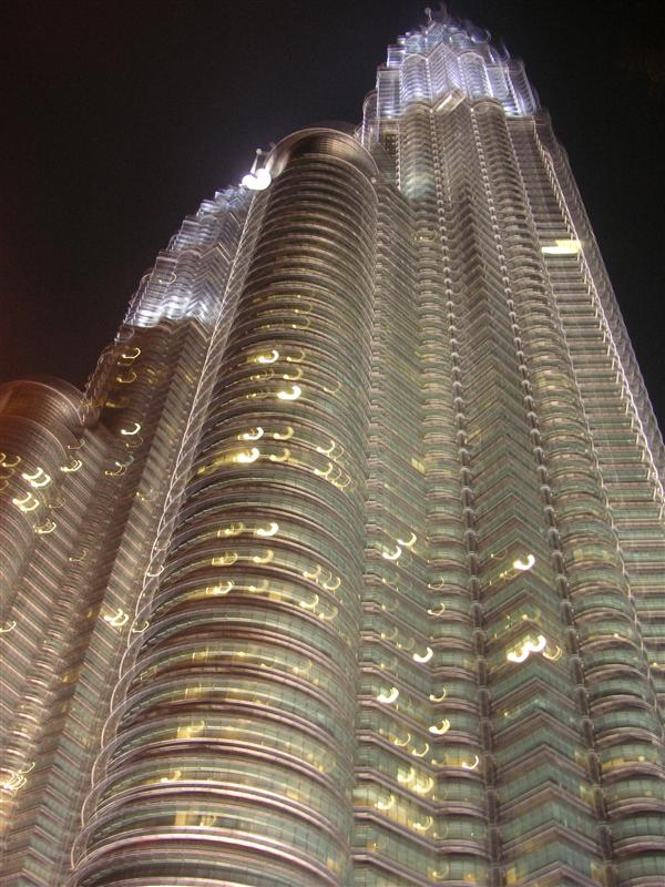 The Petronas Tower at night
