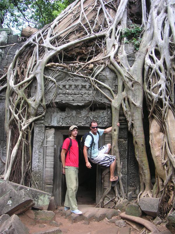 Patrick and Millsy in Angkor Wat