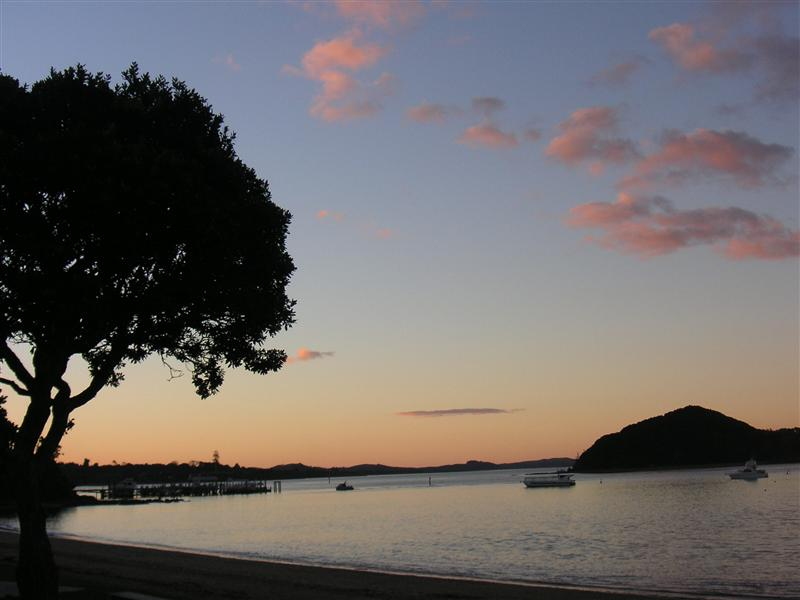 Sunset at the Bay of Islands