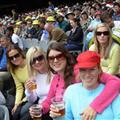 Matching knitwear at the Ashes