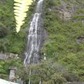 Waterfall in Banos Ecuador (100 yds from the balcony of our room)