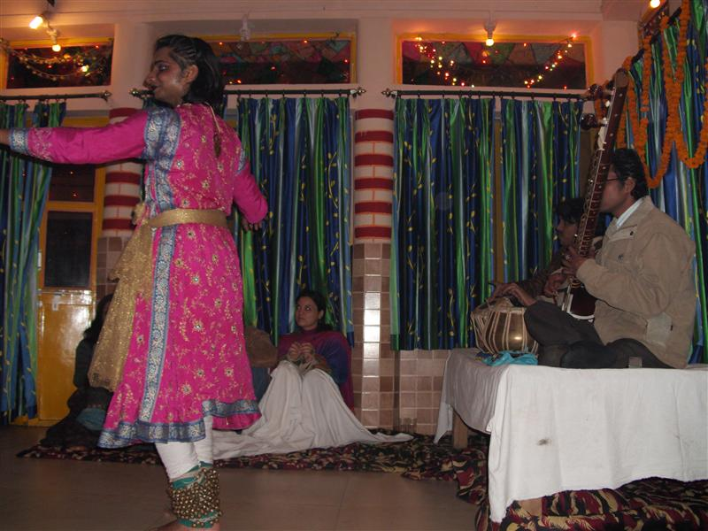 Dancer and musicians during New Years celebration