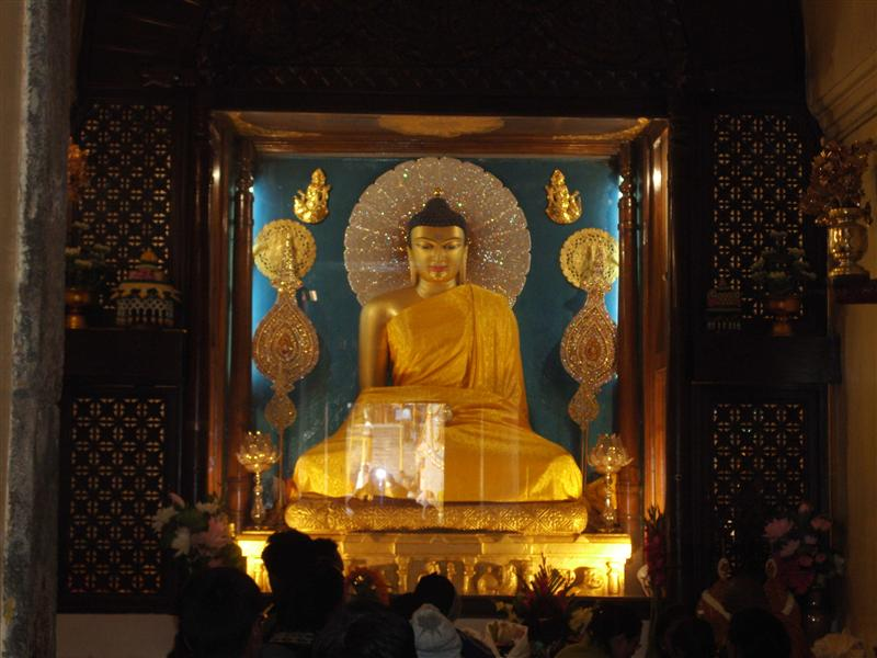 Budda statue inside the temple