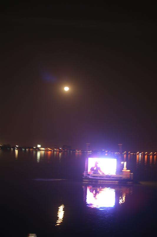 Hyderabad turns into a vibrant city by the lake at night