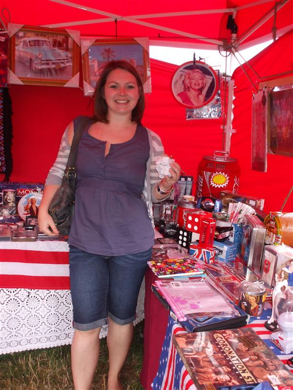 """Vanessa in the """"American"""" Tent at The Chilterns Show"""