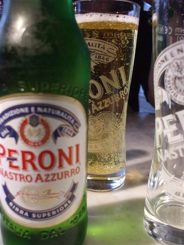 Art Shot of the Peroni Beer and Glasses