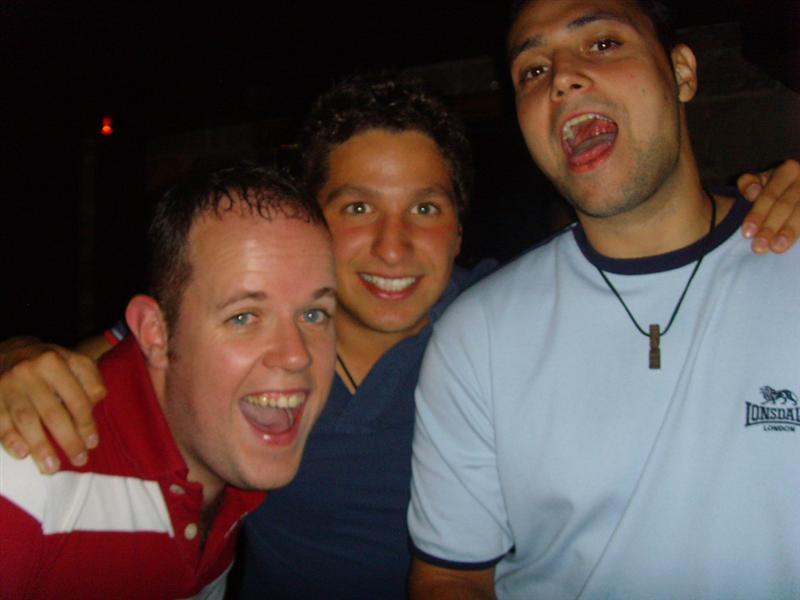Hostel room mates, Kevin and Alvaro