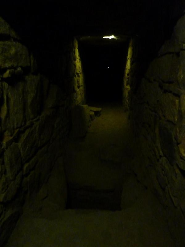 The tunnels at Chavin