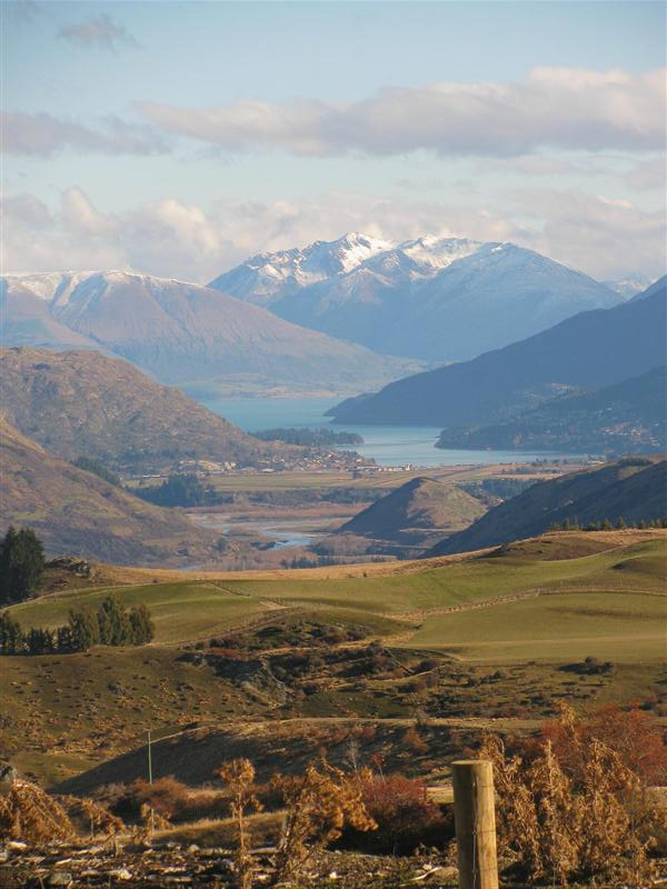 Queenstown seen from crown range