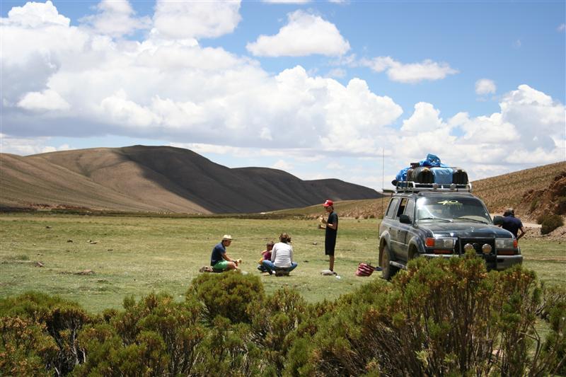 Fruestuecken im bolivianischen Hochland