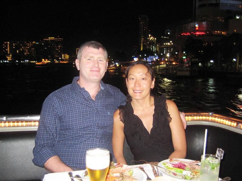 Dinner cruise down the river