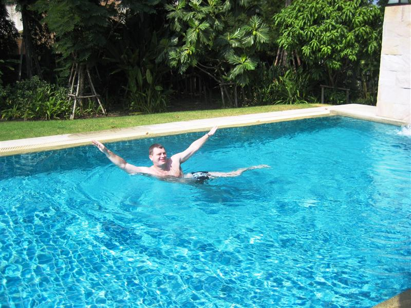 Robert practising his synchronised swimming routine