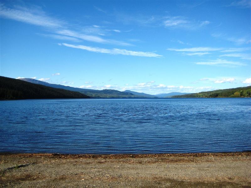 At the shore of Dease Lake