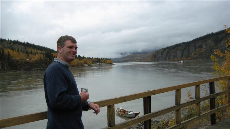 Robert by the Klondike river
