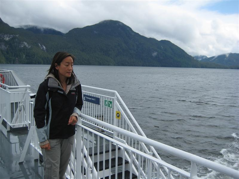 On the ferry between Port Hardy and Prince Rupert