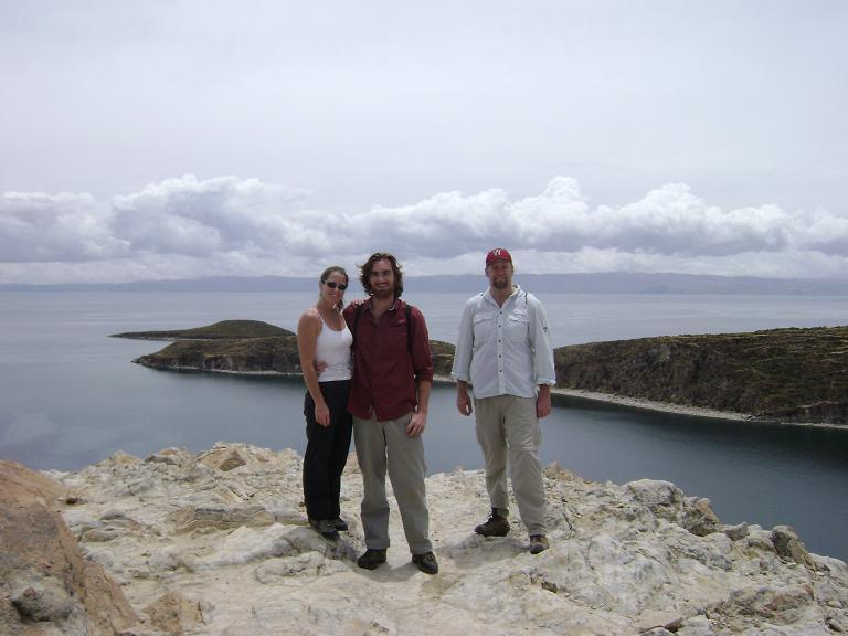 Helen, Jason and Paul at Isla del Sol