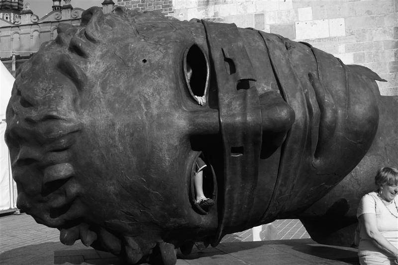 Fallen Communist Head