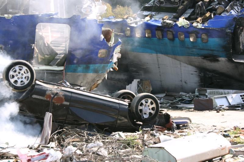 War of the Worlds set at Universal Studios
