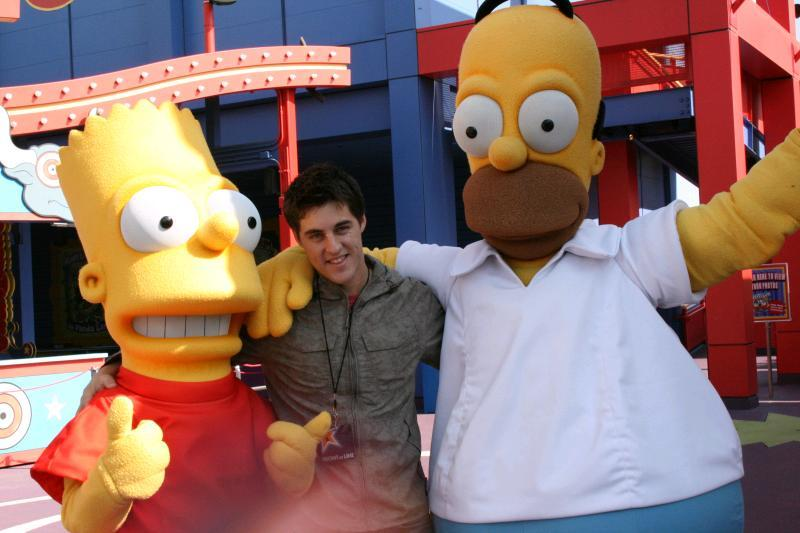 Craig with Homer and Bart