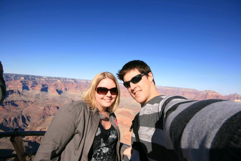 Us at Grand Canyon - The wide angle lens in use