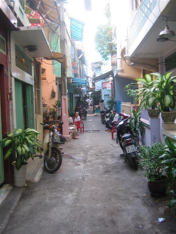 City street in Ho Chi Minh City